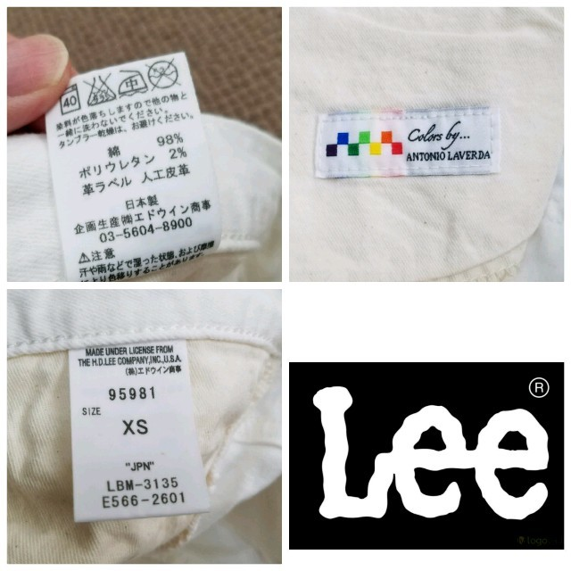 Lee(リー)の別注コラボLee×Colors byアントニオ・ラヴェルダ ホワイトデニムパンツ メンズのパンツ(デニム/ジーンズ)の商品写真