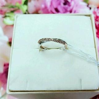 【タグ付き新品】K10PG×K10WG ダイヤモンドデザインリング(リング(指輪))