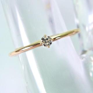 新品☆K10YG ダイヤモンド リング 6.5号[601-2](リング(指輪))