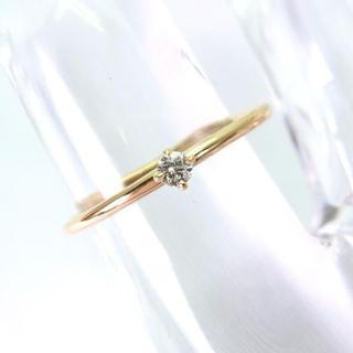 新品☆K10YG ダイヤモンド リング 8.5号[601-3](リング(指輪))