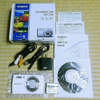 オリンパス(OLYMPUS)の美品❗光学8倍ズーム搭載❗OLYMPUS【VH-510】ホワイト(コンパクトデジタルカメラ)