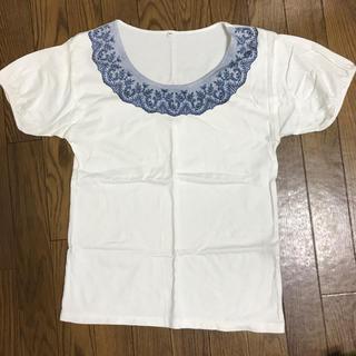 ムジルシリョウヒン(MUJI (無印良品))の白Tシャツ レース柄 無印良品(Tシャツ(半袖/袖なし))