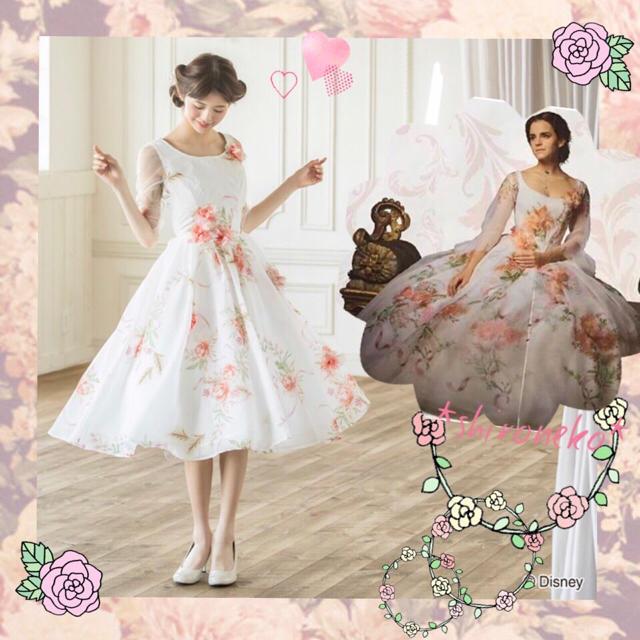 紙タグ付き新品未使用 シークレットハニー 実写 美女と野獣 ブーケリボン ドレス