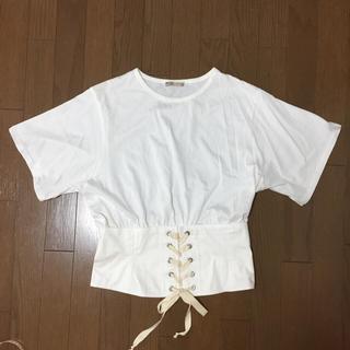 ザラ(ZARA)のZARA コルセット Tシャツ ザラ L トップス(Tシャツ(半袖/袖なし))