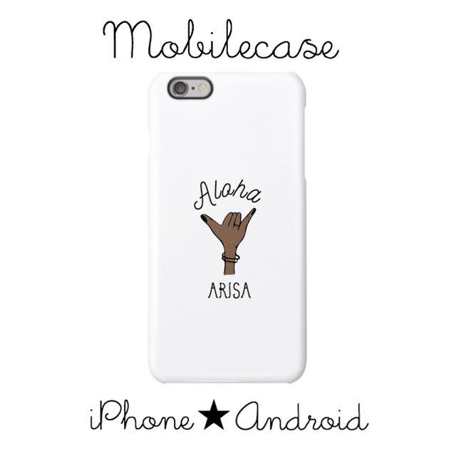 ミッキー iPhone8 ケース | 名入れ可能♡Aloha  handスマホケース♡iPhone以外も対応機種多数♡の通販 by welina mahalo|ラクマ