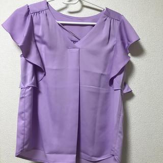 ジーユー(GU)のフリルスリーブブラウス(シャツ/ブラウス(半袖/袖なし))
