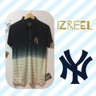 イズリール(IZREEL)のIZREEL グラデーション NYロゴ 高級ポロシャツ(ポロシャツ)