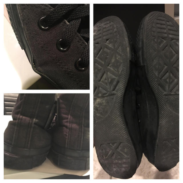 CONVERSE(コンバース)の黒 ブラック コンバース ハイカット スニーカー レディースの靴/シューズ(スニーカー)の商品写真