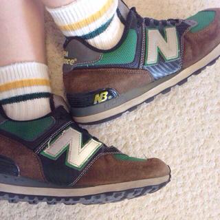 ニューバランス(New Balance)のNew balance 574 茶緑(スニーカー)