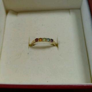 ジュエリーツツミ(JEWELRY TSUTSUMI)の美品♪K10YG マルチカラー アミュレットリング 1号(リング(指輪))