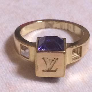 ルイヴィトン(LOUIS VUITTON)のルイヴィトン バーグ ギャンブル リング 指輪 Sサイズ パープル/ゴールド(リング(指輪))
