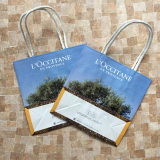 ロクシタン(L'OCCITANE)のロクシタン☆ショップバッグ☆2枚セット(ショップ袋)