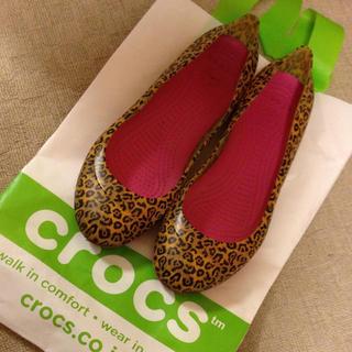 クロックス(crocs)のSALE!ヒョウ柄フラットパンプス(ハイヒール/パンプス)