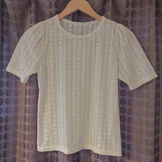 パピヨネ(PAPILLONNER)の白レースTOPS♡(Tシャツ(半袖/袖なし))