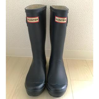 ハンター(HUNTER)のHUNTER ハンター のレインブーツ UK2 21.5cm ネイビー(長靴/レインシューズ)