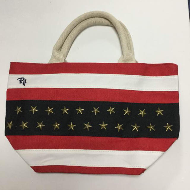 Ron Herman(ロンハーマン)のRon Herman☆赤 スタッズ☆トートバッグ レディースのバッグ(トートバッグ)の商品写真