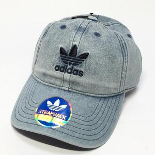 アディダス(adidas)の新品☆ adidas【アディダス】デニムキャップ 帽子 ブルー(キャップ)