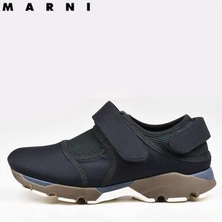 マルニ(Marni)のMARNI マルニ レディース ブラックベルクロスニーカー 38(25)(スニーカー)