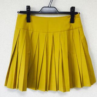 デンドロビウム(DENDROBIUM)の日本製DENDROBIUMイエロースカート☆(ひざ丈スカート)