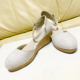 アンクルストラップ ウェッジソール 春夏靴(サンダル)