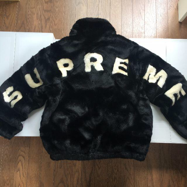 timeless design 544d3 15c03 supreme faux fur bomber