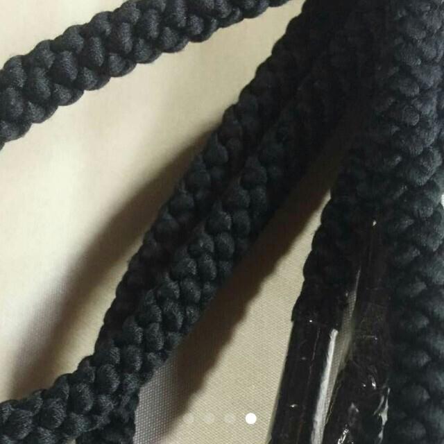 miei様専用*着物用/帯締め/黒/丸組/131と71 レディースの水着/浴衣(和装小物)の商品写真