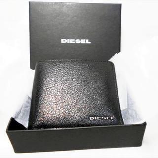 ディーゼル(DIESEL)のDIESEL ディーゼル 二つ折財布 本革 メタルロゴ (折り財布)