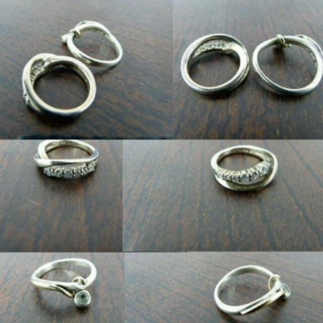 4℃ リング 6号を2個セットで!◆指輪 6号 ◆ ピンクシルバー シルバー メンズのアクセサリー(リング(指輪))の商品写真