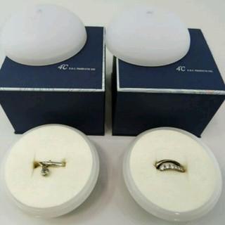 4℃ リング 6号を2個セットで!◆指輪 6号 ◆ ピンクシルバー シルバー(リング(指輪))