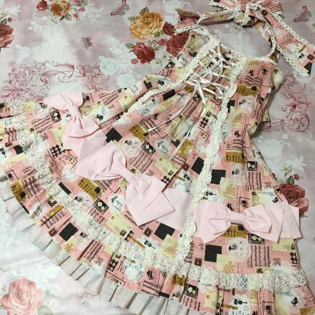 BODYLINE(ボディライン)のBODY LINE ロリータ ワンピース ピンク レディースのワンピース(ミニワンピース)の商品写真