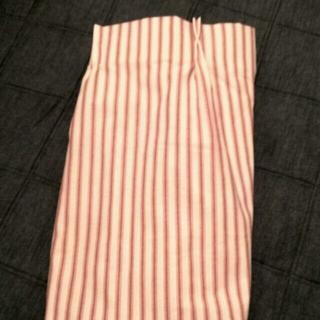 ムジルシリョウヒン(MUJI (無印良品))のカーテン、無印良品、赤ストライプ(カーテン)