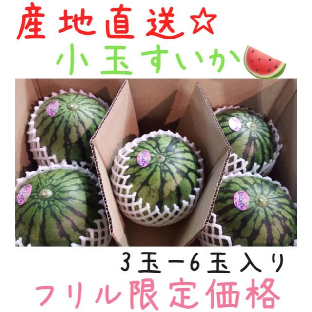 【週末SALE☆】産地直送!!熊本産☆小玉すいか3玉〜6玉入り*4 食品/飲料/酒の食品(野菜)の商品写真
