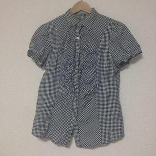 ジーユー(GU)のトレンド*ギンガムチェックシャツ(シャツ/ブラウス(半袖/袖なし))