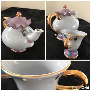 ディズニー(Disney)の【美女と野獣】ポット夫人チップのティーカップセット(食器)