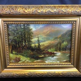 世界の名画【「山と川の風景」ロバート・ウッド】(絵画/タペストリー)