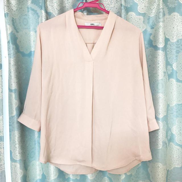 GRL(グレイル)のピンクシャツ レディースのトップス(シャツ/ブラウス(長袖/七分))の商品写真