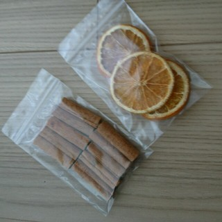 1 ドライフラワー オレンジ シナモンスティック(ドライフラワー)