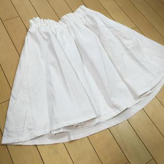 ローリーズファーム(LOWRYS FARM)の☆ローリーズファームコットンフレア白スカート☆(ミニスカート)