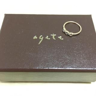 アガット(agete)のアガット ピンキーリング2本セット(リング(指輪))
