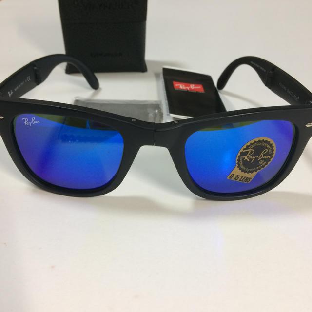 Ray-Ban(レイバン)のRay-Ban  折りたたみ式   ブルーミラー メンズのファッション小物(サングラス/メガネ)の商品写真
