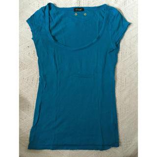 スナッチ(Snatch)の新品Snatchスナッチブルー半袖Tシャツフリーサイズ夏物青水moussySLY(Tシャツ(半袖/袖なし))