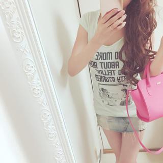 スライ(SLY)のSLY♡ガール柄ロング丈Tシャツ(Tシャツ(半袖/袖なし))
