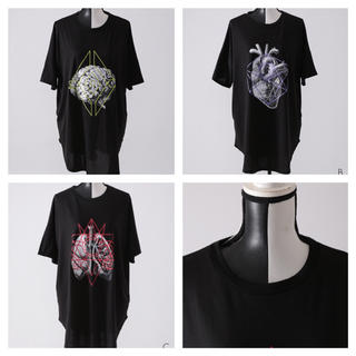 ファンキーフルーツ(FUNKY FRUIT)のユニセックス 臓器 × 線画 グラフィック ビッグT 全色あり(Tシャツ(半袖/袖なし))