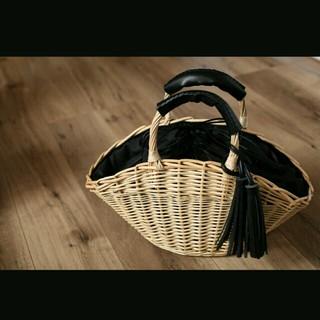 シマムラ(しまむら)のしまむら フリンジ付き かごバッグ (かごバッグ/ストローバッグ)