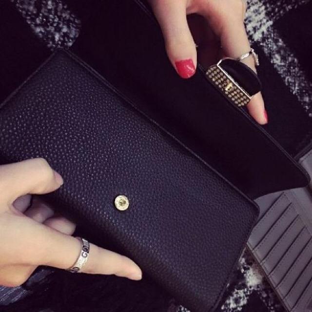☆処分価格☆長財布☆大人気☆サマンサ系ブラック☆レッド☆ メンズのファッション小物(長財布)の商品写真