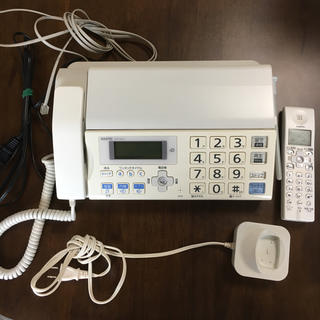 サンヨー(SANYO)の電話付きFAX(ファックス) ※子機も(電話台/ファックス台)