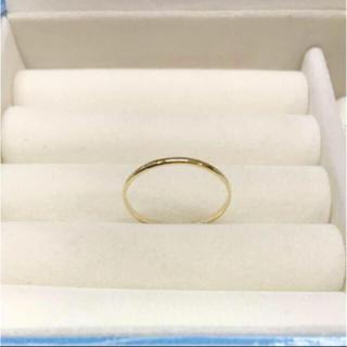 . K18 新品 未使用  15号 日本製リング プレゼントにも(リング(指輪))