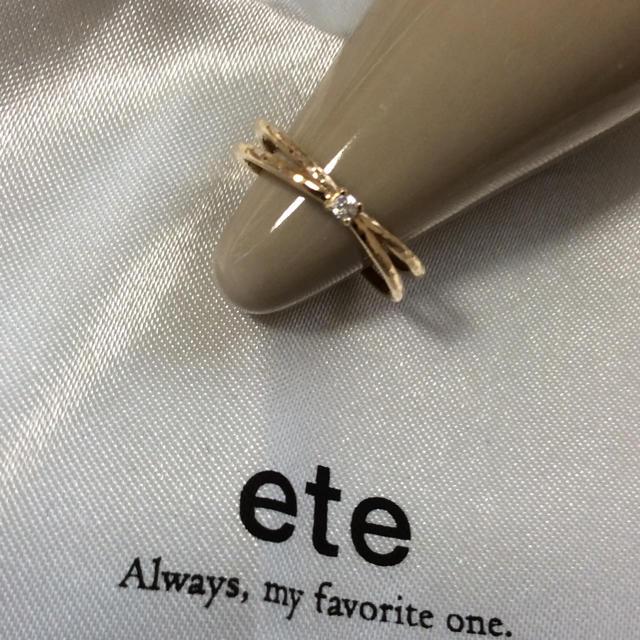 ete(エテ)のeteダイヤピンキーリング K10現行品 レディースのアクセサリー(リング(指輪))の商品写真