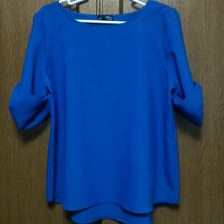 シマムラ(しまむら)の*リボン袖トップス *ブルー*(シャツ/ブラウス(半袖/袖なし))