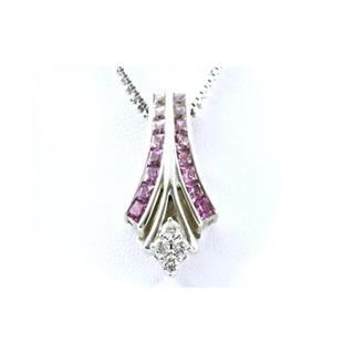 ルシオラ K18WG ダイヤ サファイア ネックレス[916-1](ネックレス)